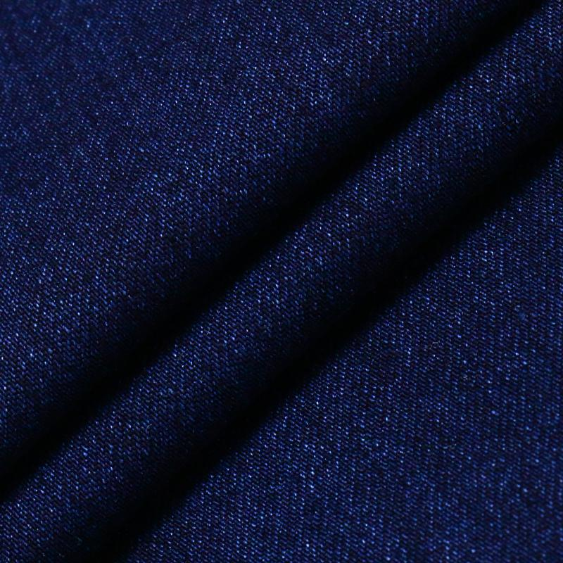 Blue Cotton Rayon Polyester Spandex Denim Fabric