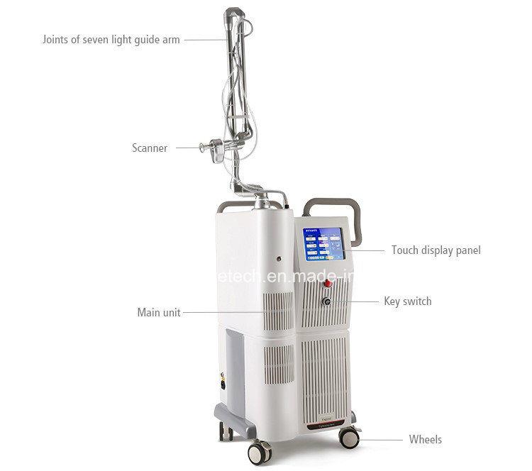 Latest CO2 Laser Machine RF Tube Skin Resurfacting Medical Beauty Equipment Fractional Ce