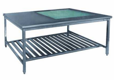 Medical Linen Folding Table Wtih Drawers