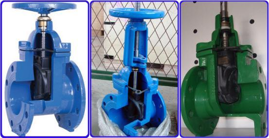 ANSI Flanged End Resilient Seat Non-Rising Stem Gate Valve