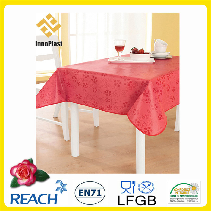 PVC Table Cloths with Nonwoven Backing Dining/Outdoor