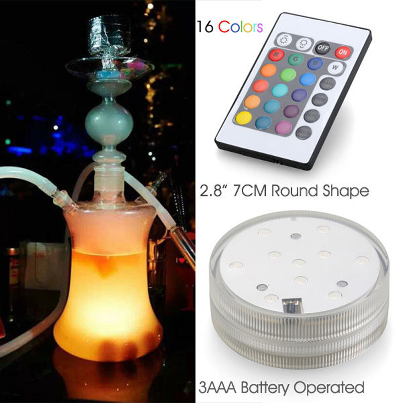 Glass Hookah Shisha with LED Lights Silicon Hose Without Leather Case (ES-HS-001)
