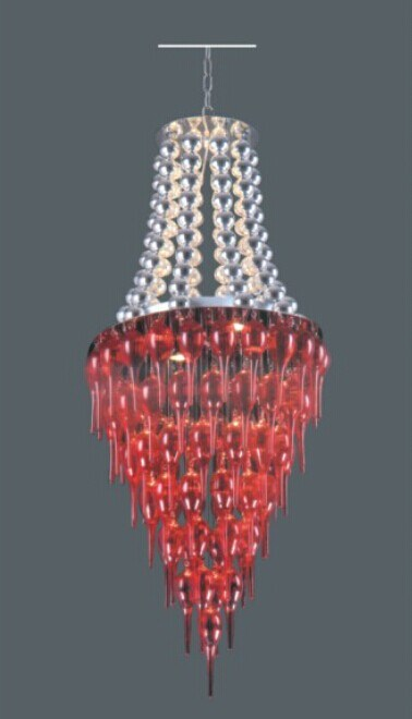 Modern Stainless Steel Red Pendant Lamp for Decoration