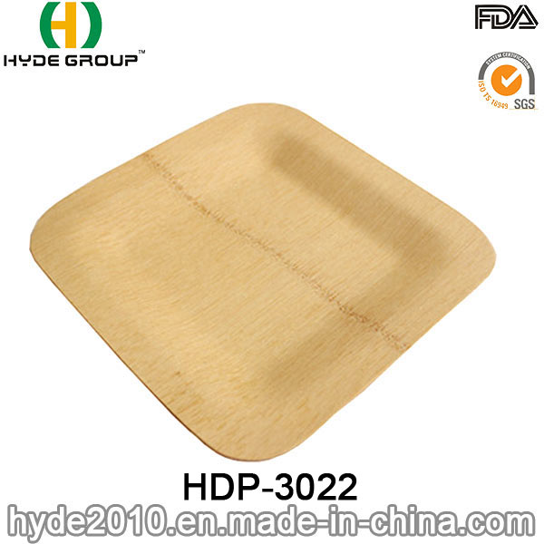 Eco-Friendly Disposable Bamboo Square Plate (HDP-3022)