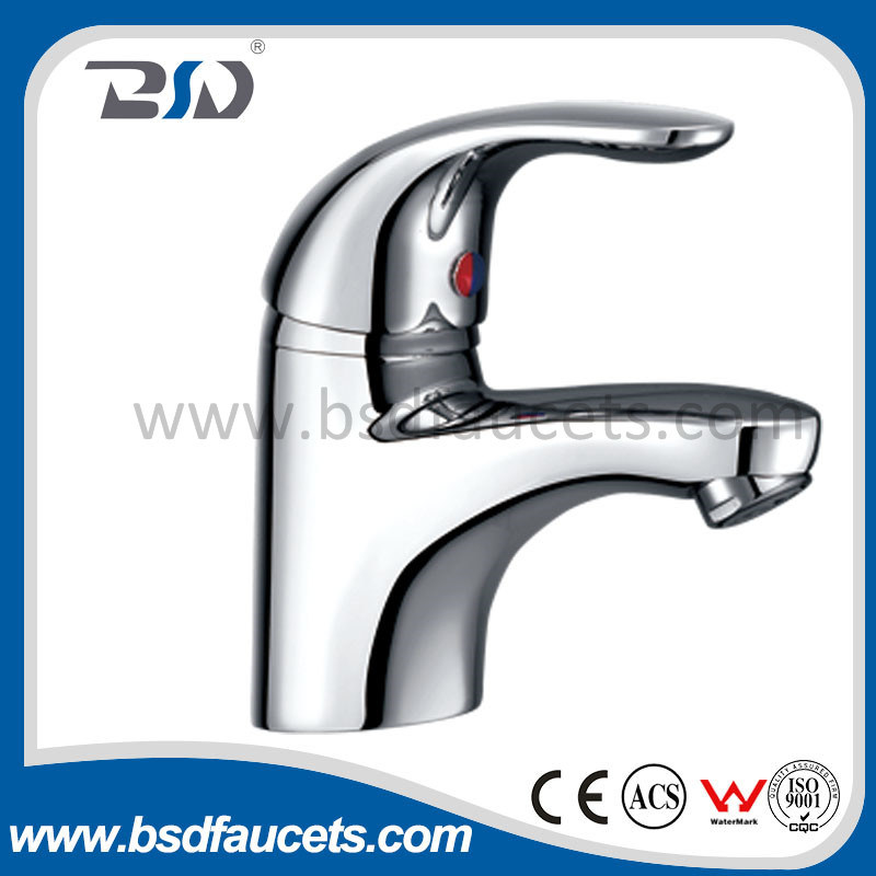 Solid Brass Body Zinc Handle Wash Basin Basin Faucet