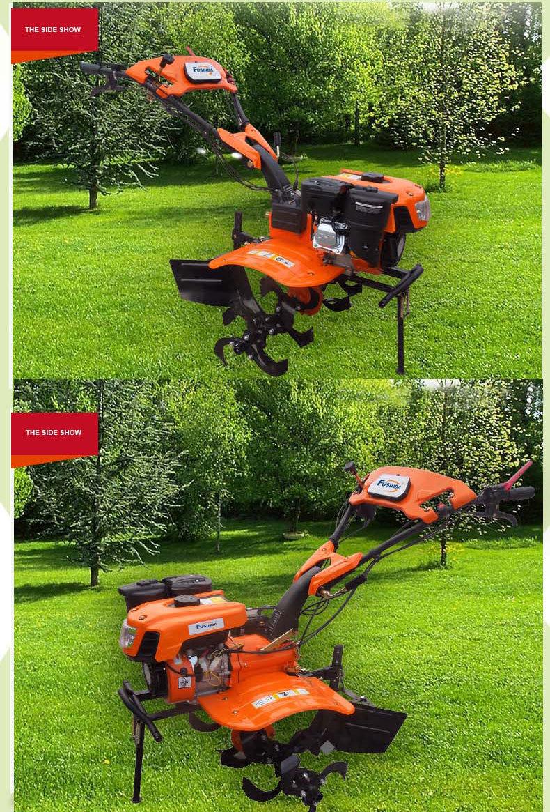Fg1050, 7HP 4.4kw Gasoline Power Tiller with Two Wheels Tiller, Mini Tiller Garden Tiller Farm Tiller Rotary Tiller