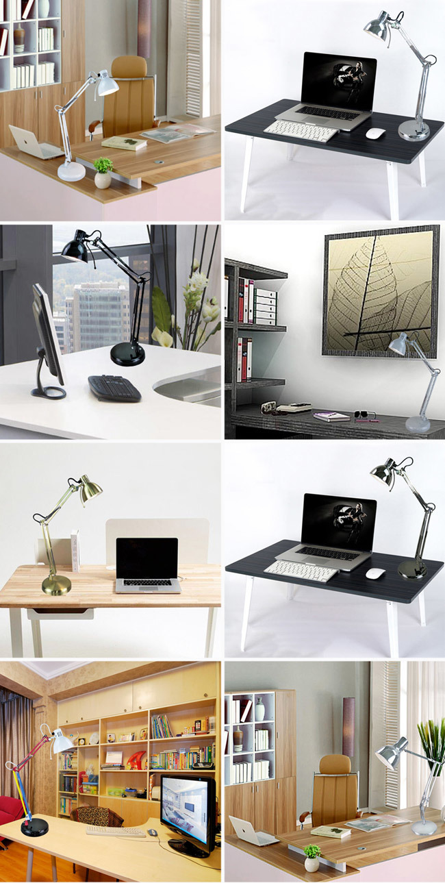 Adjustable White Metal LED Reading Lamp for Reading Study