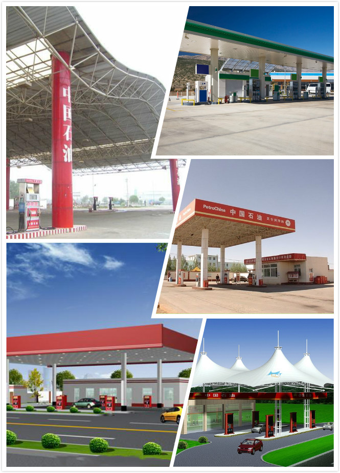 New Design Stable Steel Construction Space Frame Gas Station