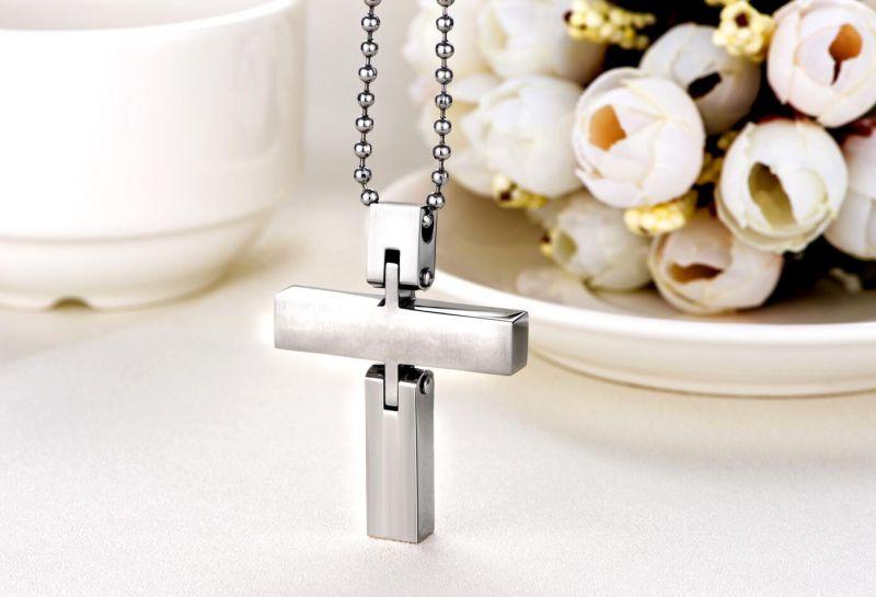 2016 Hdx Steel Two Parts Cross Jewelry Pendant