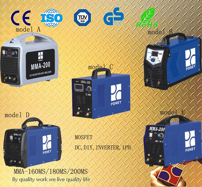 Portable Mosfet DC Inverter Welding Machine (MMA-160/180/200)