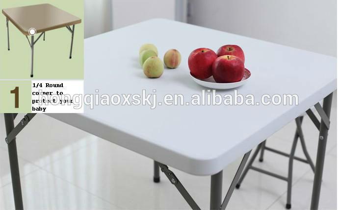 Rattan Pattern Folding Table