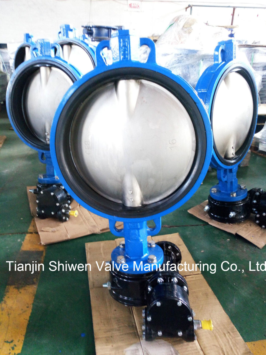 API/JIS 10K Wafer Type Butterfly Valve with Gear Operator