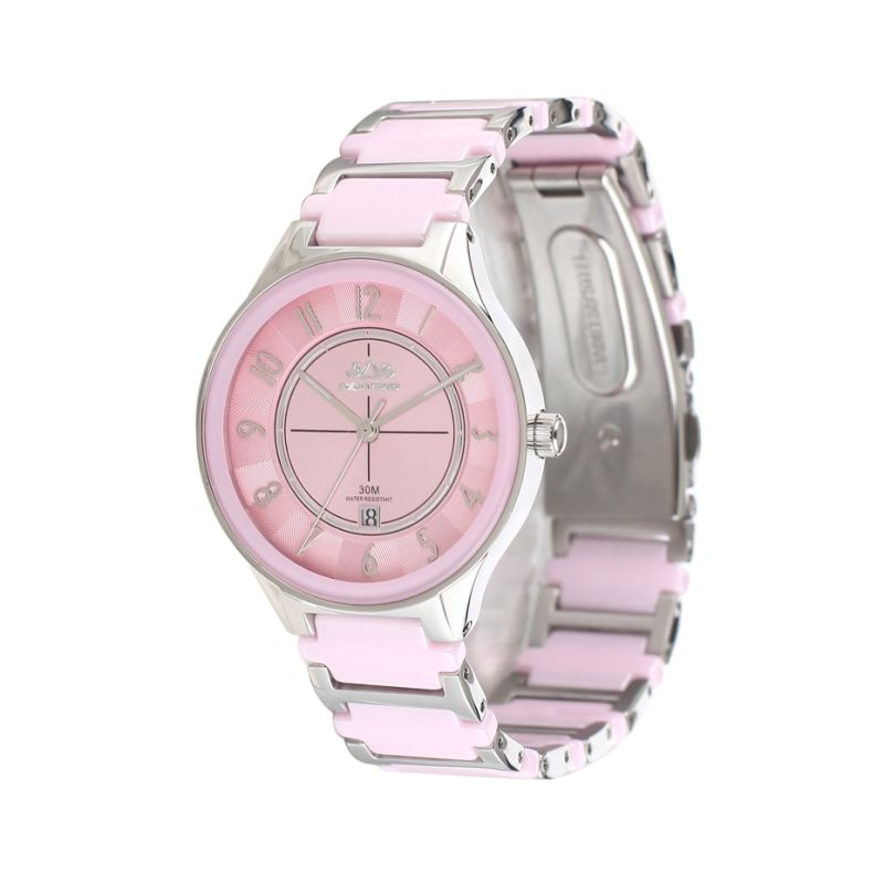 2016 Badatong Hot Selling Quartz Stainless Steel and Ceramic Watch Lady OEM Watches