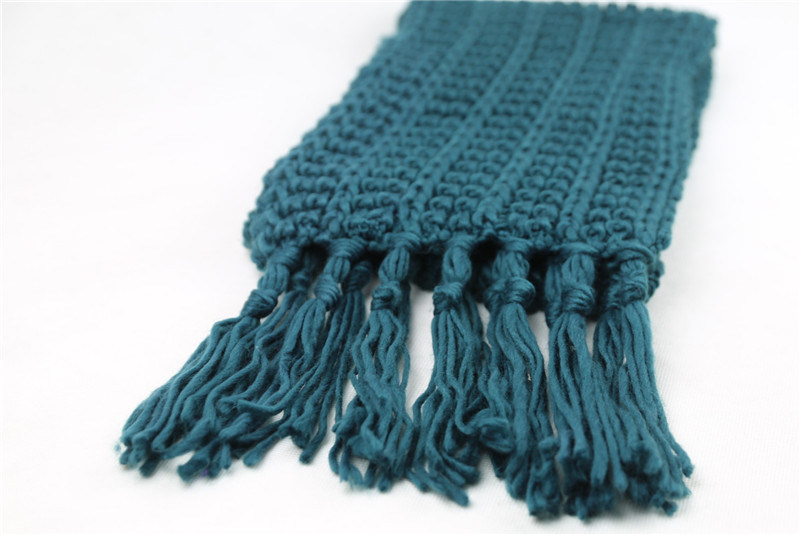Unisex Winter Warm Pinapple Stitches Classic Fringes Heavy Knitted Scarf (SK169)