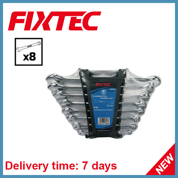 Fixtec 8PCS CRV Combination Spanner Set
