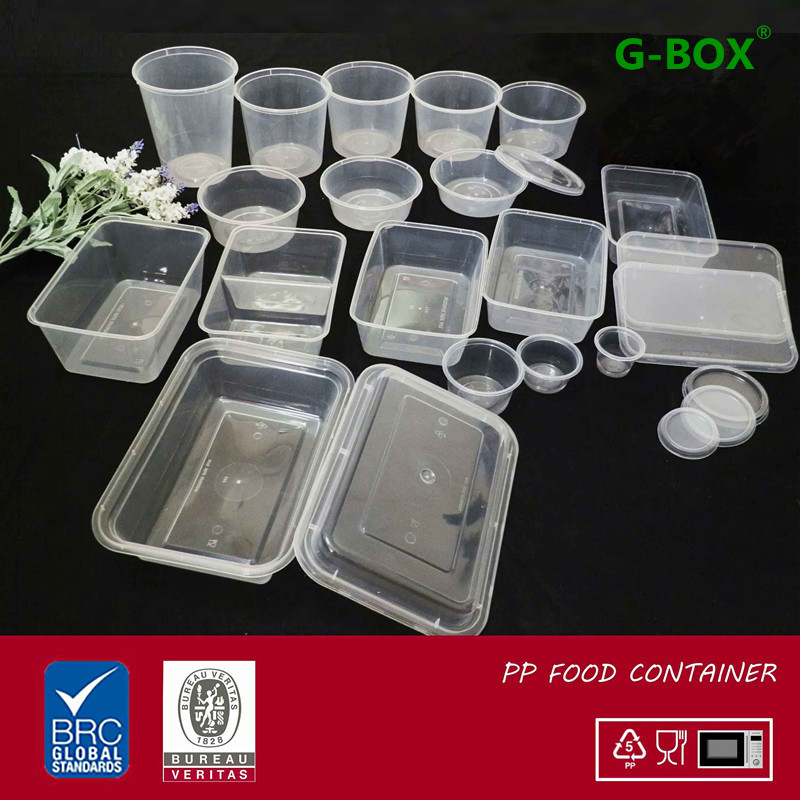 Disposable Bento Lunch Boxes Plastic Food Container BPA Free C-650