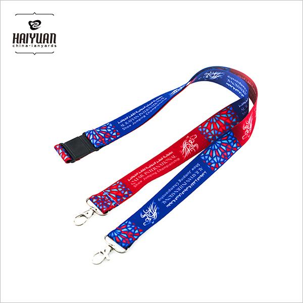 Wholesale Custom Neck Strap Lanyard Two Hook Card Lanyard