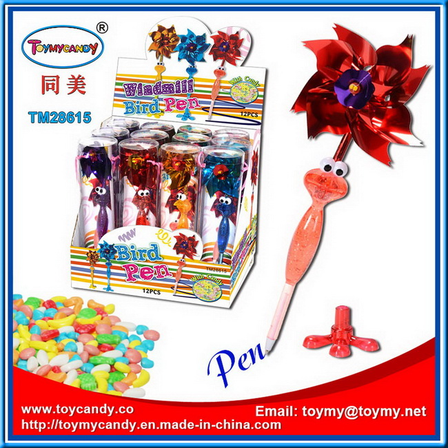 Hot Selling Windmill Bird Ball Pen Shantou Toy with Candy