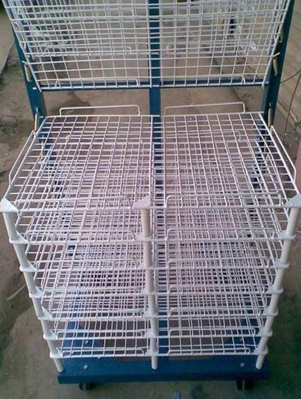 Screen printing plate drying rack