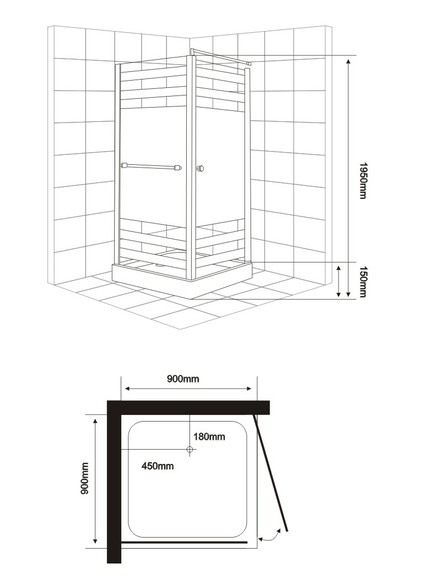 One Person Shower Enclosure (E-11)