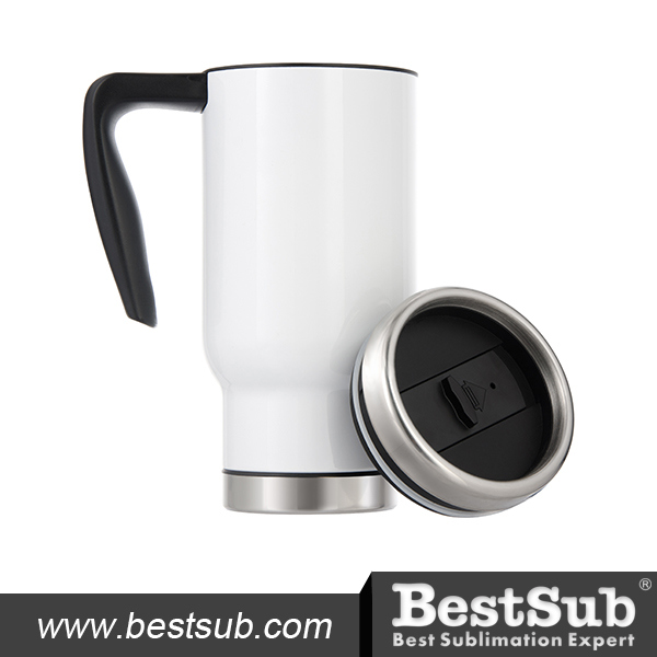 17oz Travel Mug W/ Plastic Insert (White) (B4QC5)