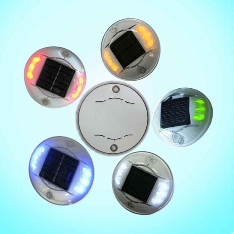 Aluminum Alloy LED Flashing Road Stud / Road Marker with Solar Panel
