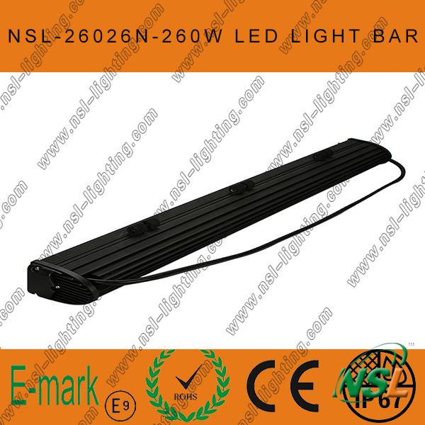 47inch 260W CREE LED Light Bar, Flood Euro 4WD Boat Ute Driving Work Lights, New 10W Range LED Sr Light Bar