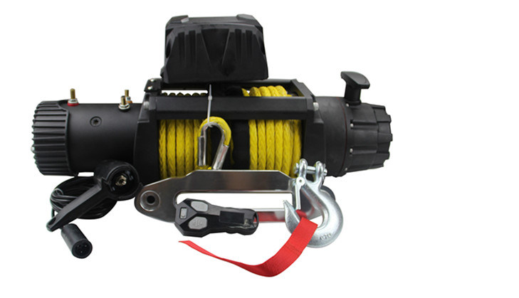Powerful Pulling Electric Winch 13000lb Winch with High Quality Synthetic Rope