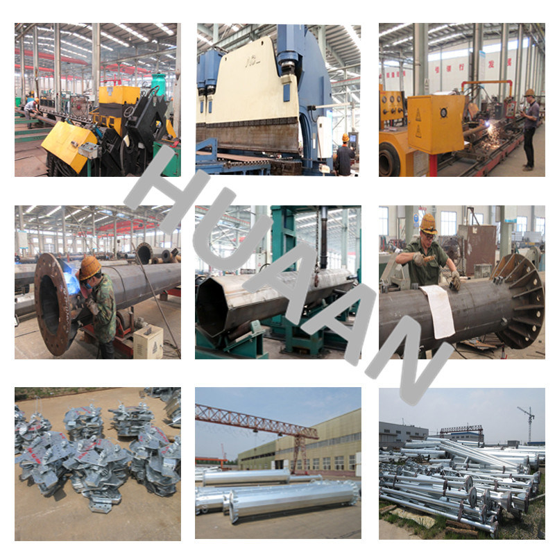 Electric Power Transmission 220kv Galvanized Steel Iron Pipe Pole