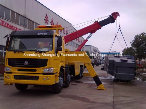 HOWO 8X4 40 Ton Heavy Recovery Road Tow Wrecker Truck