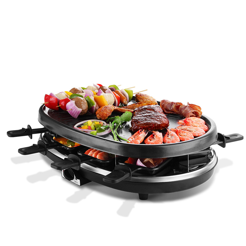 Home Use Electric Covered BBQ Maker with Round Shape