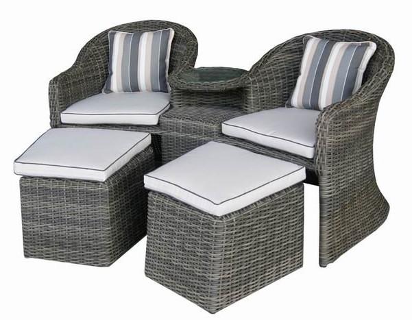 Outdoor Rattan Garden Wicker Patio Causal Arm Chair Set