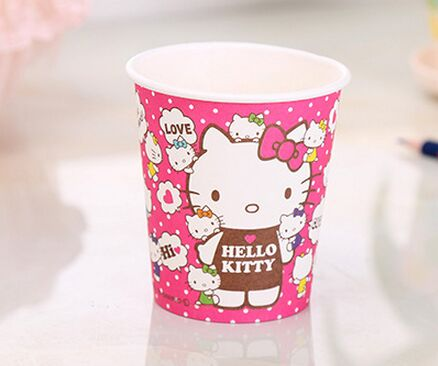 Colorful Hello Kity Party Cups for Cold Drink Paper Cups