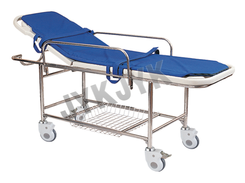 Stainless Steel Stretcher Trolley with Big Castors