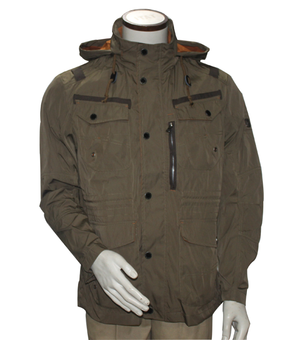 Casual Relaxed Fit Cotton/Poly Hood Jacket & Outcoat Men's