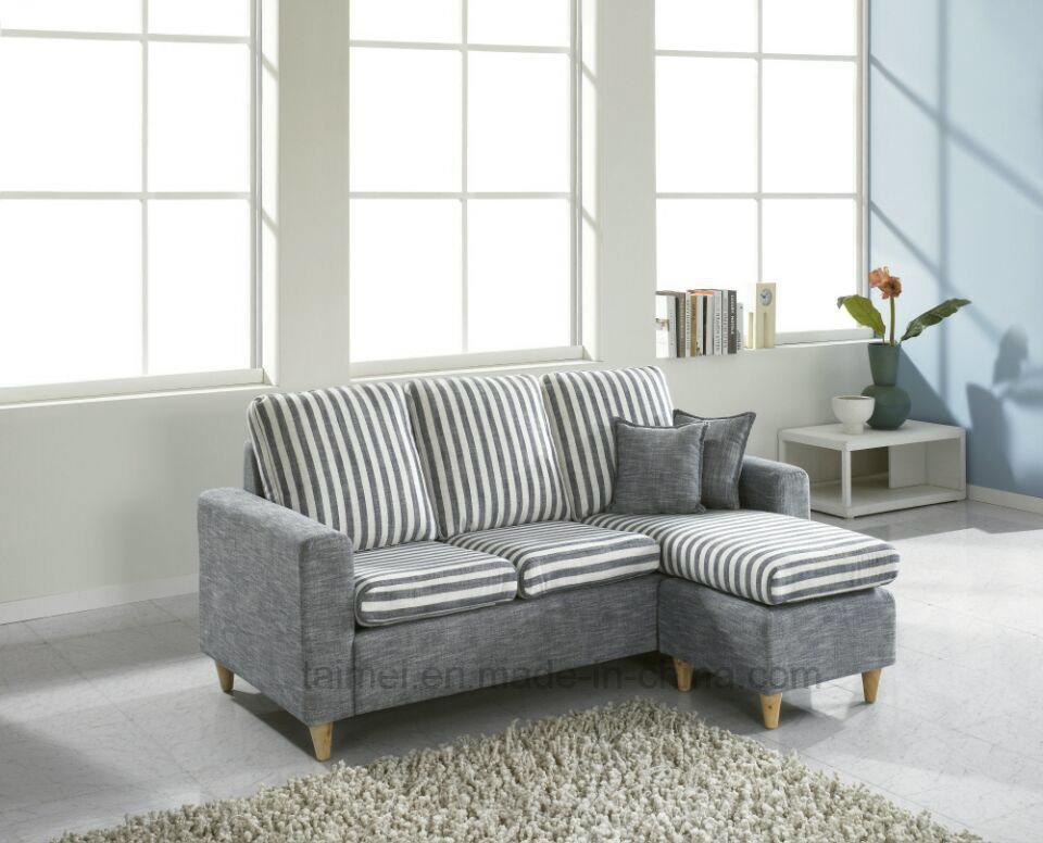 Modern Small L Shape Sectional Fabric Sofa Corner Sofa