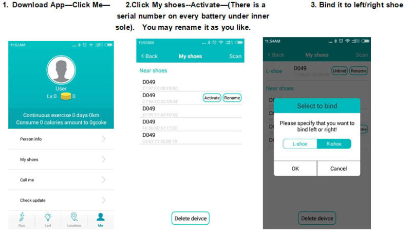 New APP Controlled LED Shoes Manufacturer Cool Light Shoes