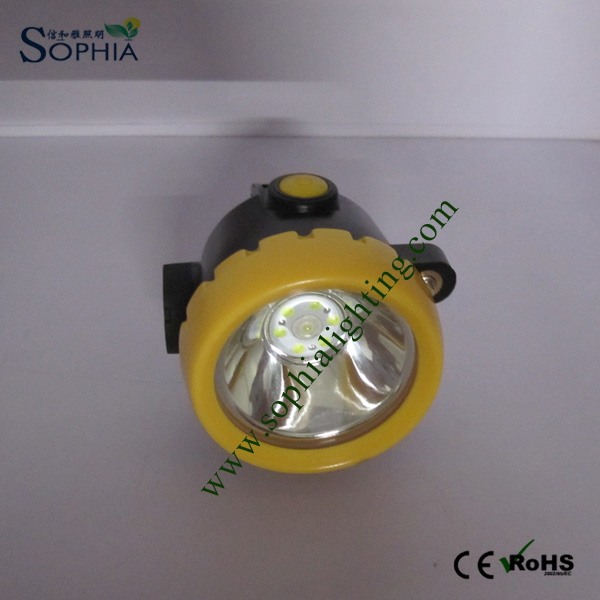2.2ah Cordless Safety Cap Light Portable with Main Auxiliary Light