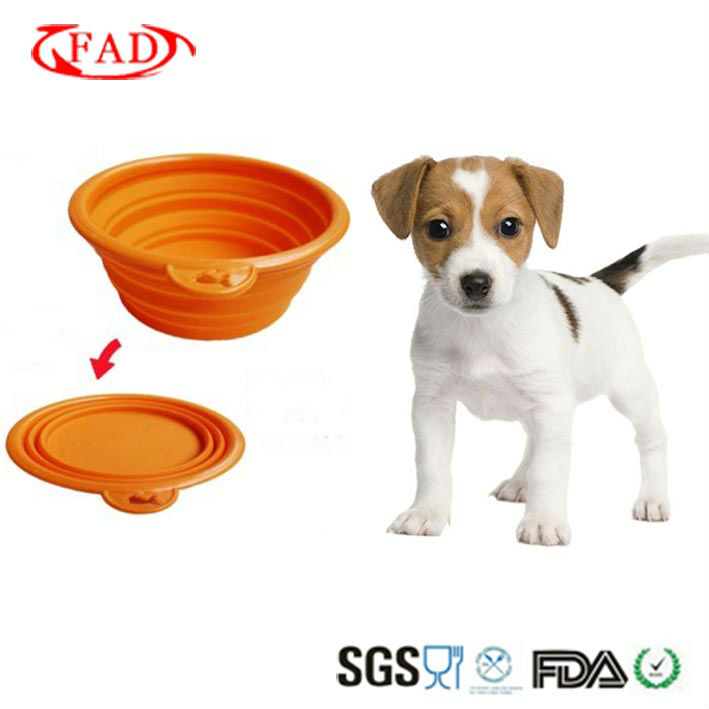 Flexible And Durable Foldable Silicone Pet Bowl
