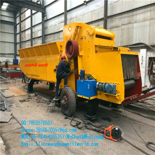 High Productivity Wood Crusher Shredder Chipping Cutting Machine on Alibaba
