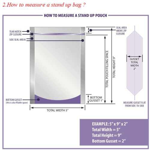 Bottom Gusseted Stand up Factory Customclear Window Packaging Bag