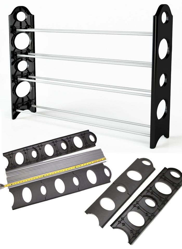 Adjustbale Free Standing up to 50-Pair Shoe Tower Space Rack Organizer