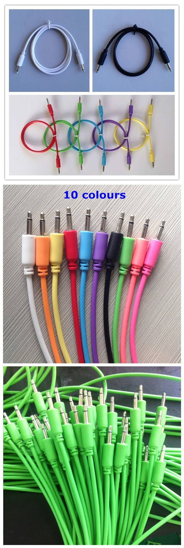 3.5mm Male to Male Mono Audio Video Cable