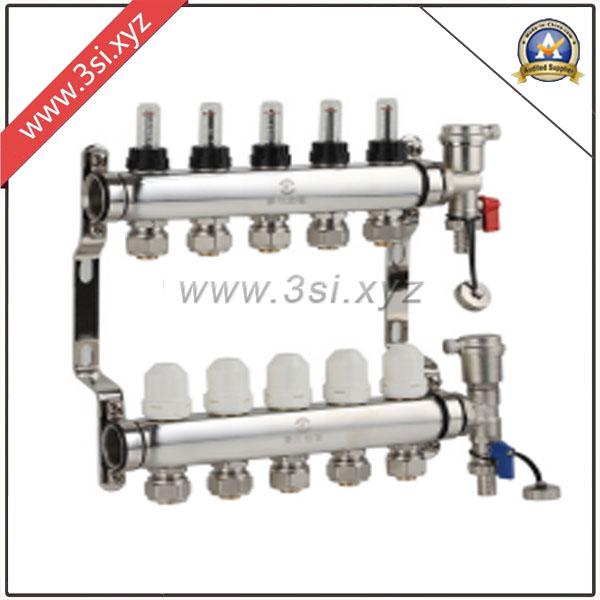 5 Ways Floor Heating Water Segregator with Gauge (YZF-M801)