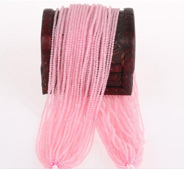 Gmenstone Loose Strands Wholesale 2mm 3mm Cute Size Rose Quartz Crystal Beads Strands