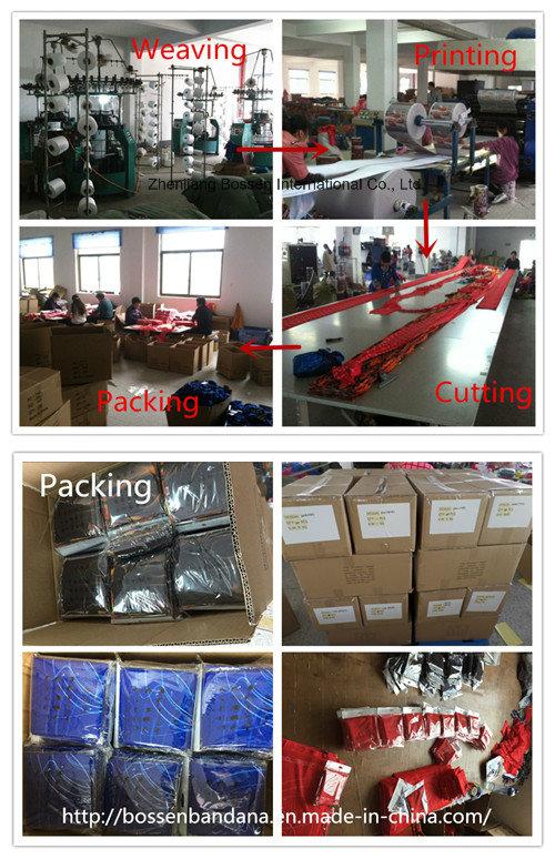 China Factory OEM Produce Customized Logo Denim Printed Microfiber Elastic Multifunctional Sports Scarves Buff