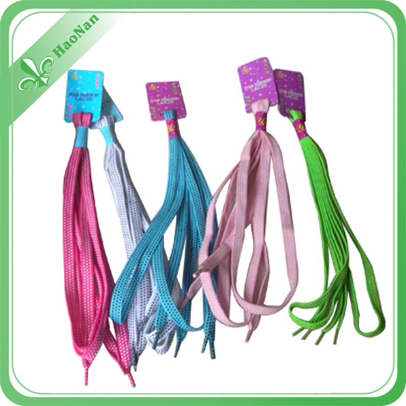 New Coming Good Quality Custom Polyester Shoelace From China