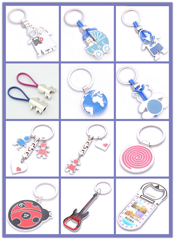 Promotion Souvenir Color Love Wedding Keychain with Name Logo (F1199)