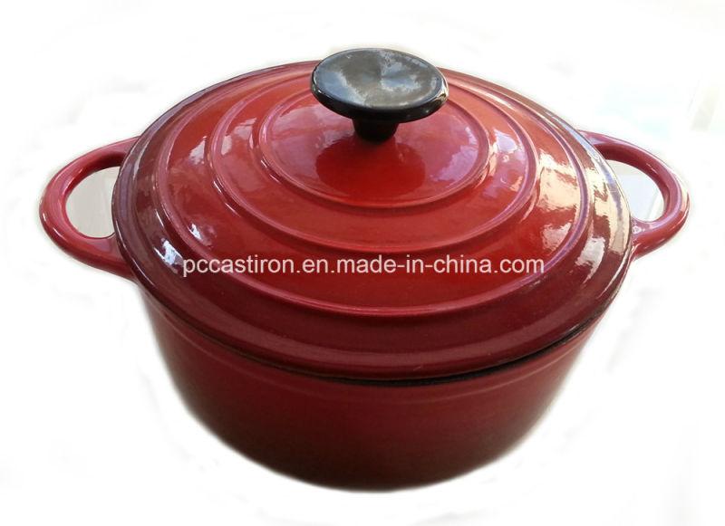 5.5qt Enamel Cast Iron Casserole Price FDA Approved Factory