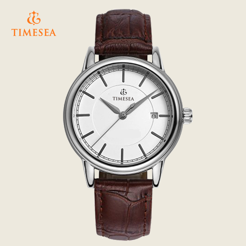 High Quality Leather Strap Wristwatch Elegance Analog Quartz Watch Relogiof 72355
